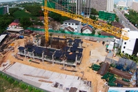 Dusit Grand Condo View - progress of construction