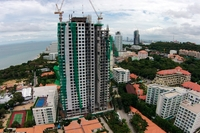 The Peak Towers - photos of construction