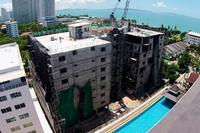 Beach 7 Condominium - photo of construction