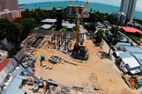 The Riviera Wongamat Beach - construction progress
