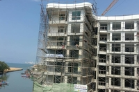 Whale Marina Condo - photo from construction site